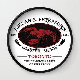 Jordan Peterson - Lobster Shack 2 Wall Clock