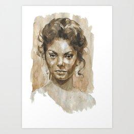 Jealous woman  Art Print