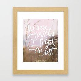 we were together Framed Art Print