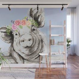 Petunia Pig Wall Mural