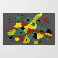 cello Area & Throw Rugs featuring Abstract #226 The Cellist #2 by Rockett Graphics