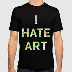 I HATE ART LARGE Mens Fitted Tee Black