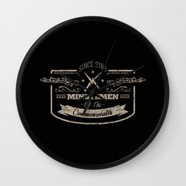 Minutemen of the Commonwealth Wall Clock