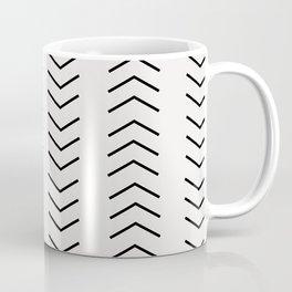 mudcloth pattern white black arrows Coffee Mug