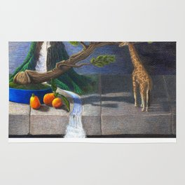 Still Life With Kumquats and Giraffe Rug