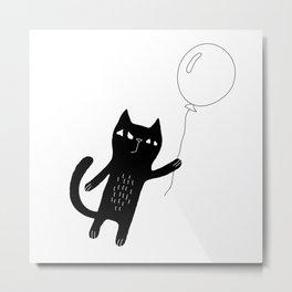 Flying Cat Metal Print