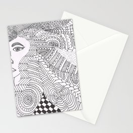 Hair Doodle Stationery Cards