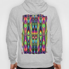 Color confession, fractal abstract with decorative tribal patterns Hoody