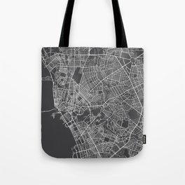 Manila Map, Philippines - Gray Tote Bag
