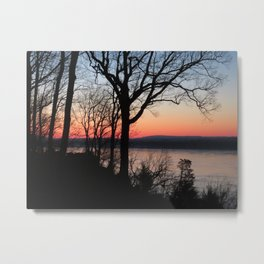 Ohio River Kentucky view From southern Illinois sunrise Metal Print