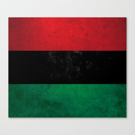Distressed Afro-American / Pan-African / UNIA flag Canvas Print