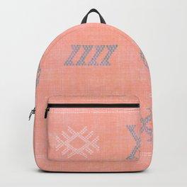 Morocco Kilim in Peach Backpack