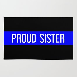 Police: Proud Sister (Thin Blue Line) Rug