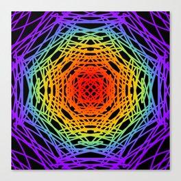 Rainbow and Black Modern Canvas Print