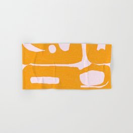 Abstract in Yellow and Cream Hand & Bath Towel