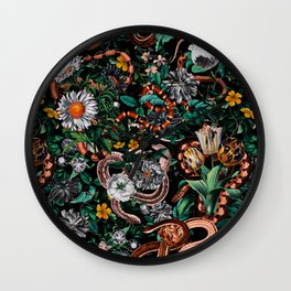 Dangers in the Forest V Wall Clock
