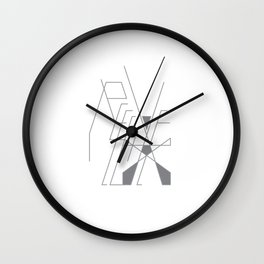 Recieve. 1of 3. on white. Wall Clock