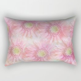 Pink daisies on a pastel background. Rectangular Pillow