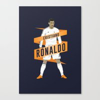 real madrid Canvas Prints featuring Cristiano Ronaldo - Real Madrid  by KieranCarrollDesign
