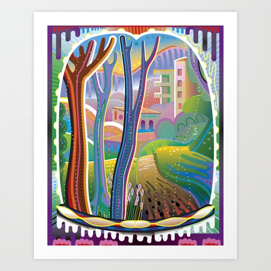 View Through Rainbow Eyes Art Print