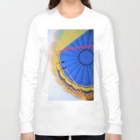 hot air balloon Long Sleeve T-shirts featuring Hot Air Balloon by Brian Raggatt