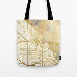 Boise Watercolor Map Tote Bag