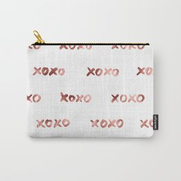 XOXO Fashion Love Rose Gold Pattern Carry-All Pouch