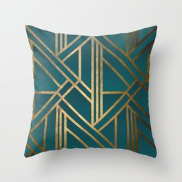 Art Deco Graphic No. 213 Throw Pillow