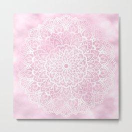 Pink Sky Mandala Metal Print