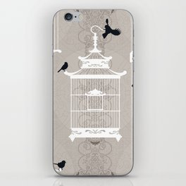 Snow Empty Brid Cages iPhone Skin