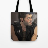 punk Tote Bags featuring Punk by Pat-a-tat