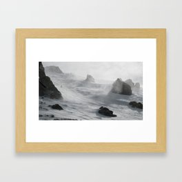 Wipeout Chutes at Mammoth Framed Art Print