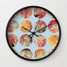 Cloud Inkblot Wall Clock