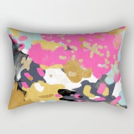 Sacha - abstract painting boho color palette bright happy dorm college abstract art Rectangular Pillow