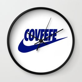 Covfefe [BLUE] Wall Clock