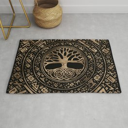 Tree of life -Yggdrasil Runic Pattern Rug