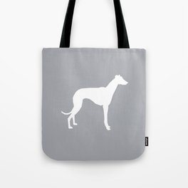 Whippet dog art silhouette dog breed minimal grey and white whippets Tote Bag