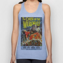 The Curse of the Werewolf, vintage horror movie poster Unisex Tank Top