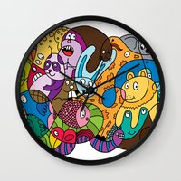 safari Wall Clocks featuring Safari by Chris Piascik