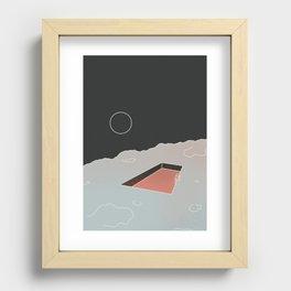 Moon Pool Recessed Framed Print