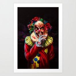 Scariest Clown Art Print