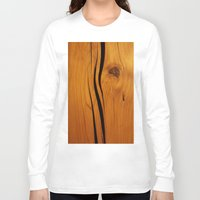 wooden Long Sleeve T-shirts featuring Wooden texture by DistinctyDesign