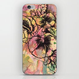 Pretty Pansies iPhone Skin