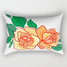 Frame from abstract roses Rectangular Pillow