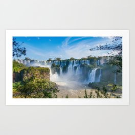 Iguazu Falls Panorama Art Print Art Print