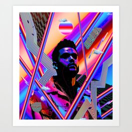 The Weeknd Trippy Art Print