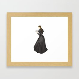 Leave a note for your next of kin, tell'em where you been. Framed Art Print