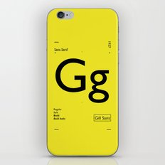 Gill Sans iPhone Skin