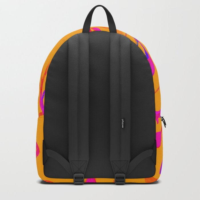 Peaches and Cream Red Leaves Backpack