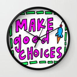 solid advice Wall Clock